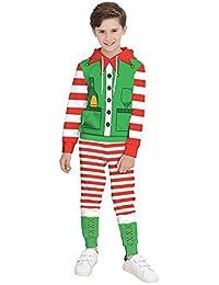 KIDVOVOU Boys Girls Christmas Outfit Hoodie Sweatshirt Tops Sweatsuit Pants Set 4-13Y