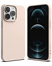 Ringke Compatible with iPhone 13 Pro Max Case, Air-S Silicone Type Shockproof Flexible Matte TPU Thin Full Protection Phone Cover for 6.7-inch (2021) (PINK SAND)