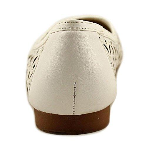 Leather Womens Bianco Toe Flats Shalla Closed Baller Vittadini Adrienne q7W6xvv