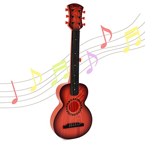 Happytime Kids Emulational Guitar Musical Toys Guitar with 6 Strings Musical Instruments Educational Toys for Kids Children Adults (Difference Between 6 String And 7 String Guitar)