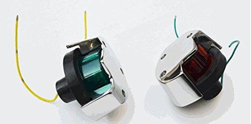 (Marine Grade Stainless Steel Navigation Bow Lights for Boston Whaler -- Pair)