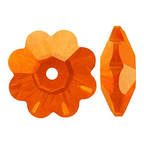 Swarovski Crystal, 3700 Flower Margarita Beads 6mm, 12 Pieces, Sun ()