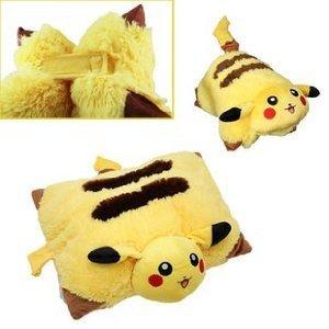 Pokemon Pikachu Coussin Pliable Décoratif Peluche: Amazon.fr: Jeux