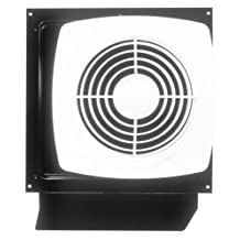 Broan Model 509S 8-Inch Through-Wall Utility Fan with Integral Rotary Switch, 180 CFM, 6.5 Sones