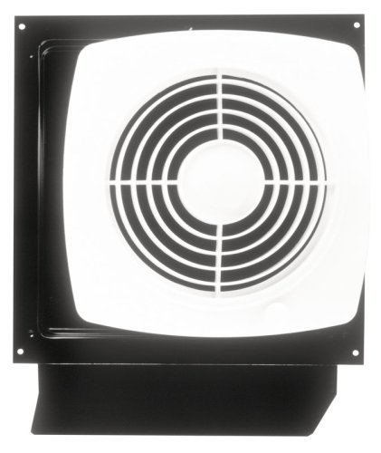 Wall Ventilation - Broan Through-the-Wall Ventilation Fan, White Square Exhaust Fan, 6.5 Sones, 180 CFM, 8