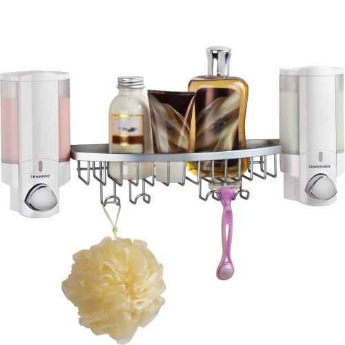Better Living Products 76254-14BSK AVIVA Dispenser Shower Basket, White by Better Living (Image #1)