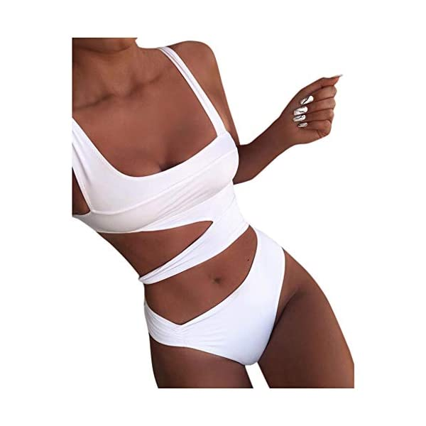 Bikini Donna Brasiliana Stampa Leopardo V-Collo Pezzo Costumi da Bagno Donna Bikini Retro Sexy Body Costume Bandage… 1 spesavip