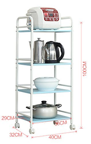 GRY Küche Regal/Regal/4 Regal/Metallwagen/Lagerung/Mikrowelle Rack ...