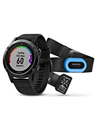 Garmin Fenix 5 Reloj GPS multideporte Zafiro 47mm Performer Bundle (HRM-Tri) Negro/Negro