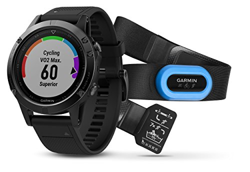 Garmin fēnix 5 Performance Bundle, Premium and Rugged Multisport GPS Smartwatch, Includes Heart Rate Strap, Sapphire Glass, Black