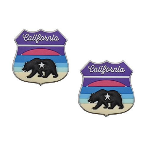 Racket Expressions California Sunset Highway Sign Shape Tennis Dampener 2-Pack by