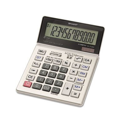VX2128V Commercial Desktop Calculator, 12-Digit LCD, Sold as 2 Each by Sharp