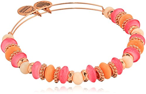 Alex and Ani Women's Horizon Coral Bangle Bracelet, Shiny Rose, Expandable made in Rhode Island