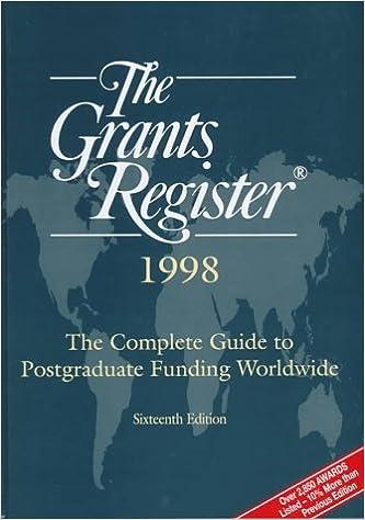 The Grants Register: 1998 (16th ed)
