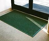 Commercial Grade Entrance Door Mat - ''FloorGuard'' - 4' x 8' - Green - Full Coverage Fabric Border