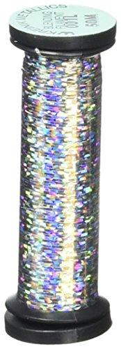 Kreinik Blending Filament 50m Metallic Thread for Sewing, 55-Yard, Solar Silver
