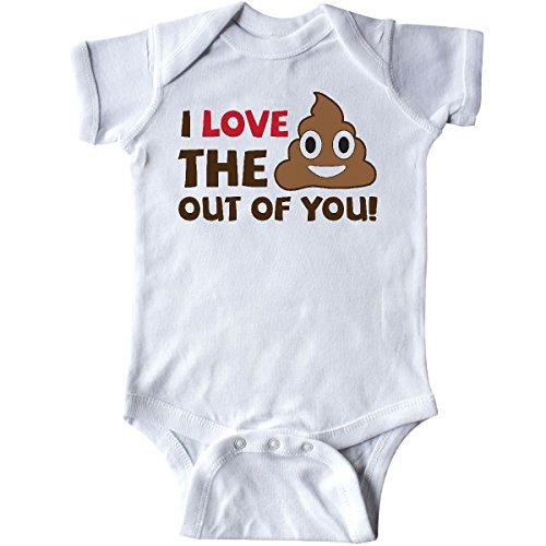 inktastic - Valentine's Day I Love The Poop Infant Creeper Newborn White 28b01