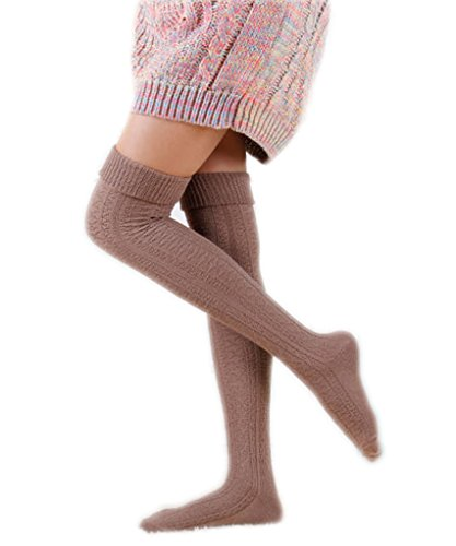 Akery-Womens-Girls-Winter-Over-Knee-Leg-Warmer-Knit-Crochet-Socks-Tights-Leggings