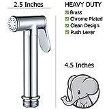 Bumworks-Cloth-Diaper-Toilet-Sprayer-Kit-Brass-Chrome-Hand-Held-Bidet-wMetal-Hose-T-Valve-78-inch-and-Mounting-Clip-Attachment-Adapter
