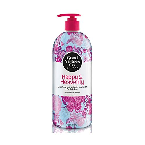 Good Virtues Co. Christmas Deal Daily Clarifying Shampoo For Oily Hair (23.7 oz) with Organic Black Seed Oil, Free from Parabens, SLES, ALES, Synthetic Colourants