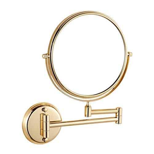 Makeup Mirror Bathroom Mirror Folding 10x Magnifier Metal - Nickel Gravity Fixture