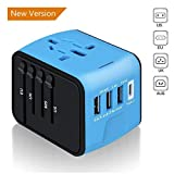 Universal International Travel Power Adapter,EATRAV All in One Wall Charger with High Speed