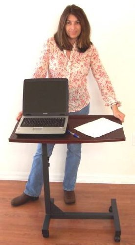 LM1 Tilt Top OverBed Hospital Tray Table; height adjustable ()