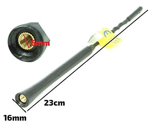 ALCANT-MAMX-23S antena de coche de repuesto de calidad genuina AM//FM radio picadura de abeja m/ástil tipo tornillo de 23cm tama/ño S