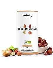 foodspring Muesli Proteico, 420g, Sabor Dátiles-Frutos secos, BIO con finos copos de soja y espelta, Sin azúcares añadidos, 100% vegano y orgánico