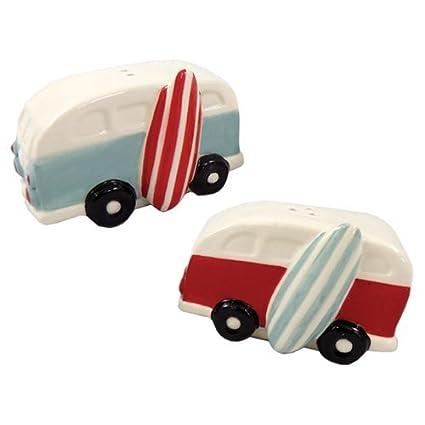 Barry Owens Co VW Van with Surfboard Salt and Pepper Set Inc
