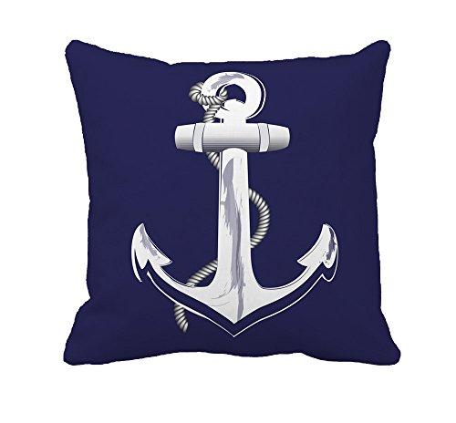 Indigo Nautical Anchor Decorative Emulation