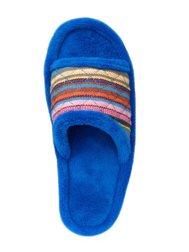 Slipper Safari Blueberry One Isotoner Stripe Banded Women's HAxnX