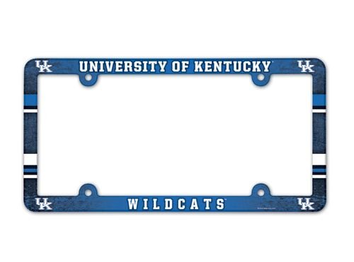 NCAA License Plate with Full Color Frame, University of Kentucky (Rutgers License Plate)
