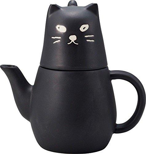 Sun Art Black cat Tea for one.Tea cup and tea pot set fro...