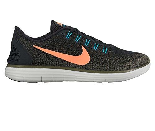 NIKE Men's Free RN Distance Running Shoe (11 D(M) US, Black/Bright Mango-Dark Loden)