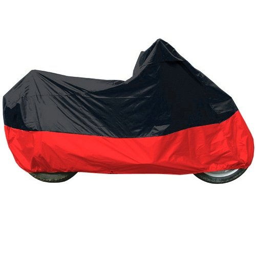 (Black - Red Motorcycle Cover For Scooter, Piaggio, Vespa, Kymco, M)