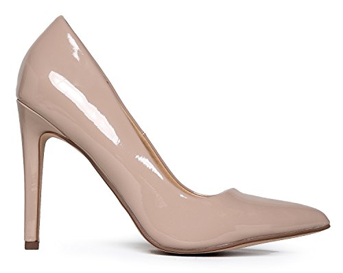 Work Classic J Pat Kiera On Beige Heel Pumps Slip Pumps Toe High Adams Pointed Closed r6rEqwPx