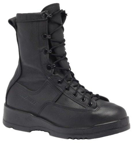 200g Uniform Boots - Belleville 880ST Waterproof Steel Toe Flight and Flight Deck Boot - 12.0 W - Black