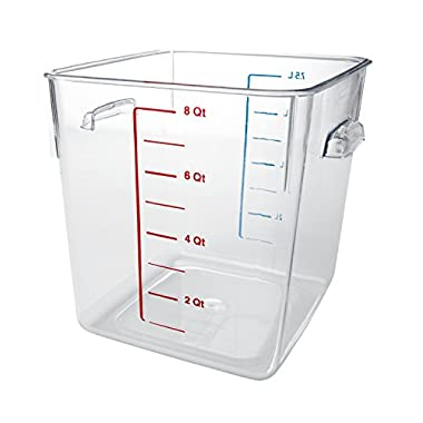 Rubbermaid Clear Space Saving 8 Qt Square Container