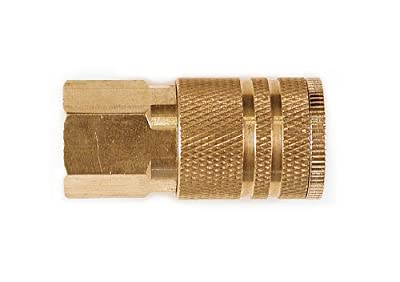 Primefit IC1414FB6 1/4-Inch Industrial 6-Ball Brass Coupler with 1/4-Inch Female NPT
