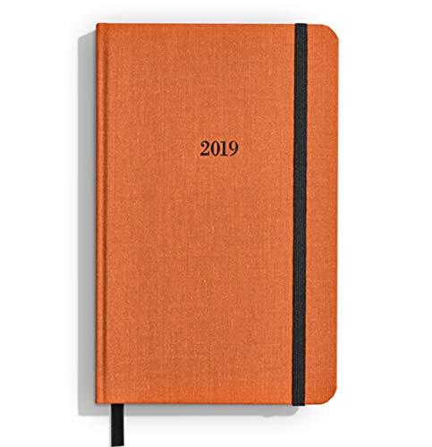 Shinola Planner: 2019, 12 Month, Hard Linen, Sunset Orange (5.25x8.25)