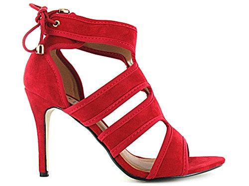 Foster Red mujer altos Footwear tacones 77qTpF
