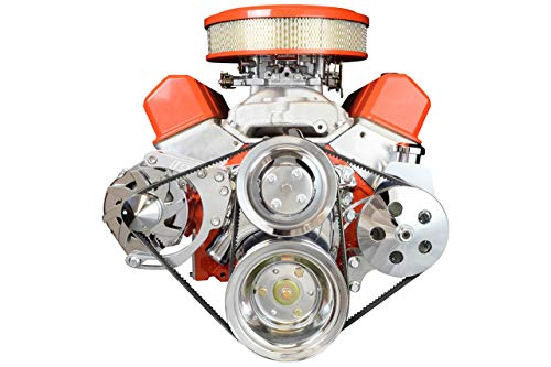 ICT Billet SBC Alternator/Power Steering Pump Accessory Drive Bracket Kit for Double Hump Heads 305 327 350 383 5.0L 5.7L V8 Designed & Manufactured in the USA 551576 (Power Steering Bracket For Chevy 350 With Headers)
