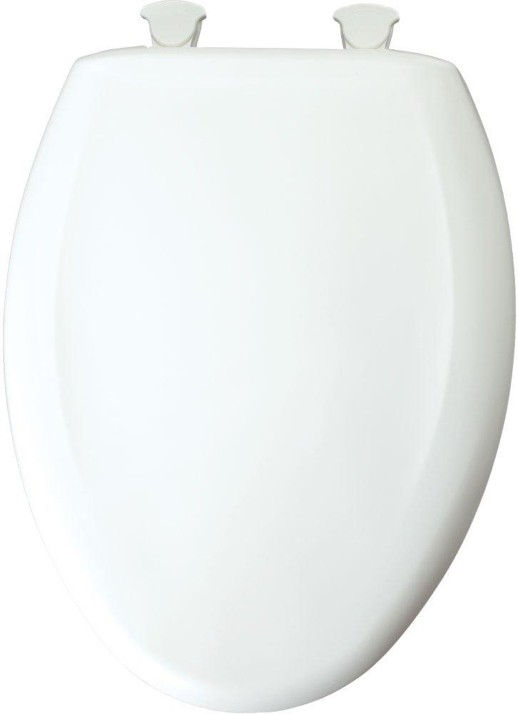 Bemis 1200SLOW162 1200SLOWT 162 Lift-Off Plastic Elongated Slow-Close Toilet Seat Silver by Bemis (Image #1)