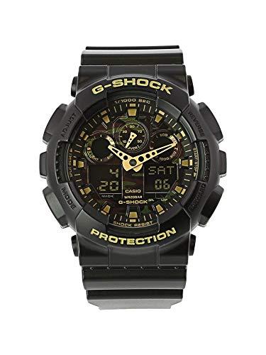 G-Shock Casio GA100CF-1A9 (Black/Camouflage) Men's Sport Digital Analog Watch