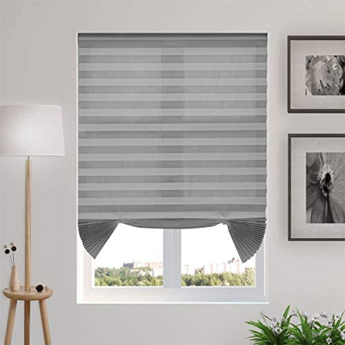 TFSKY Temporary Blinds Cordless Pleated Shades and Blind