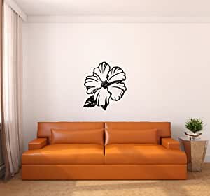 Hibiscus Flower Large Vinyl Wall Decal Sticker Graphic