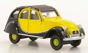 Citroen 2CV Charleston, amarillo/negro, RHD , 1963, Modelo de Auto, modello completo, Oxford 1:76