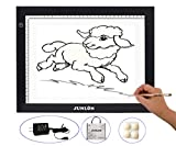 "JUNLON A4 LED Light Pad Table Great Variety Tracing Box Board for Drawing Light Tracer Artists Stencil Artcraft Tracing Tattoo Animation Extremely Bright Adjustable Brightness in 0.3""Thickness"