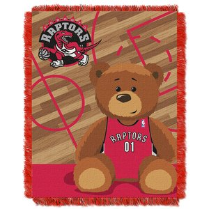 (The Northwest Company Officially Licensed NBA Toronto Raptors Half Court Woven Jacquard Baby Throw Blanket, 36